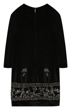 Детское платье ALBERTA FERRETTI JUNIOR черного цвета, арт. 021359 | Фото 2