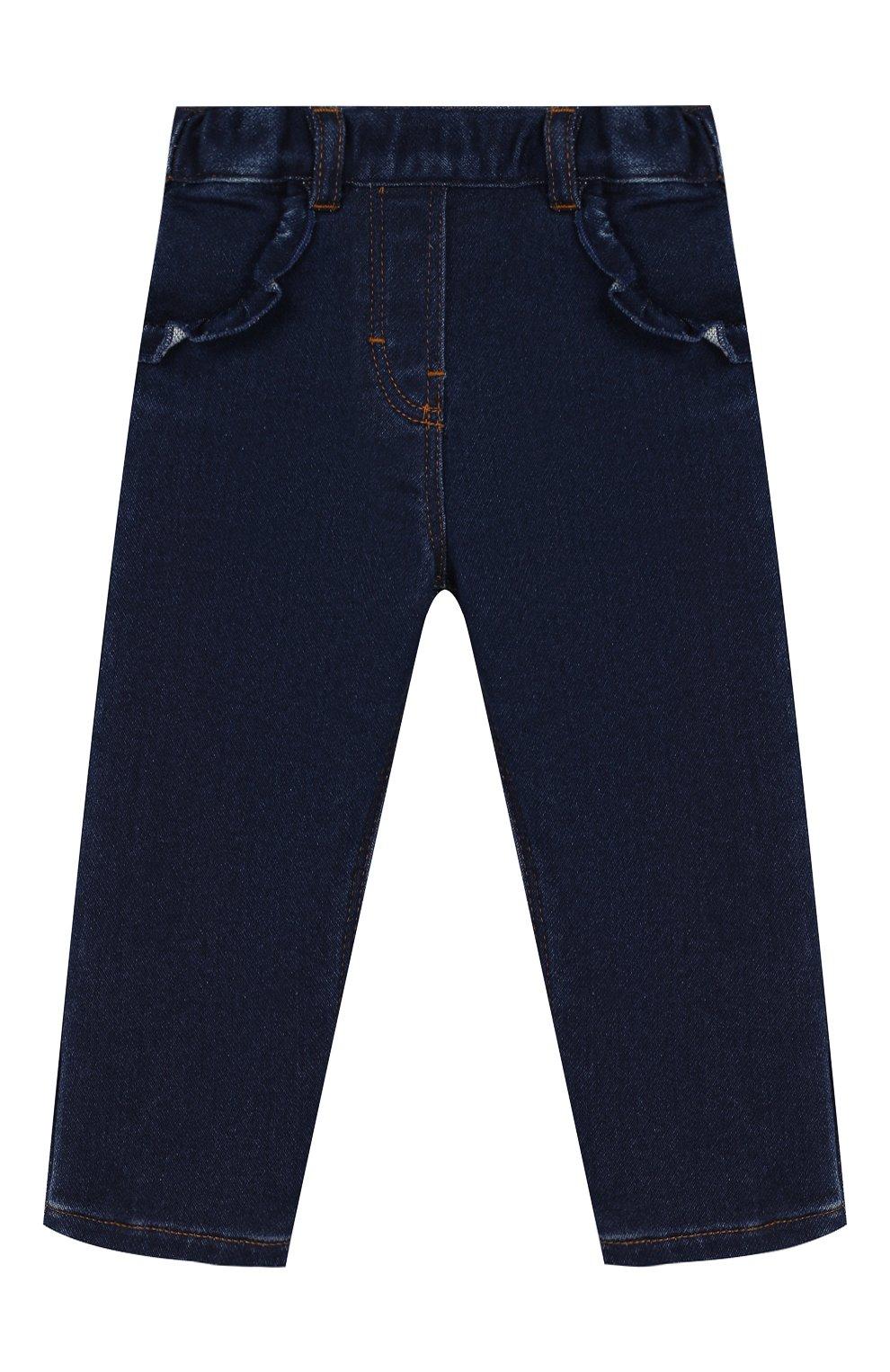 Детские джинсы TARTINE ET CHOCOLAT темно-синего цвета, арт. TP22041/1M-1A | Фото 1 (Материал внешний: Хлопок; Ростовка одежда: 12 мес | 80 см, 6 мес | 68 см, 9 мес | 74 см)