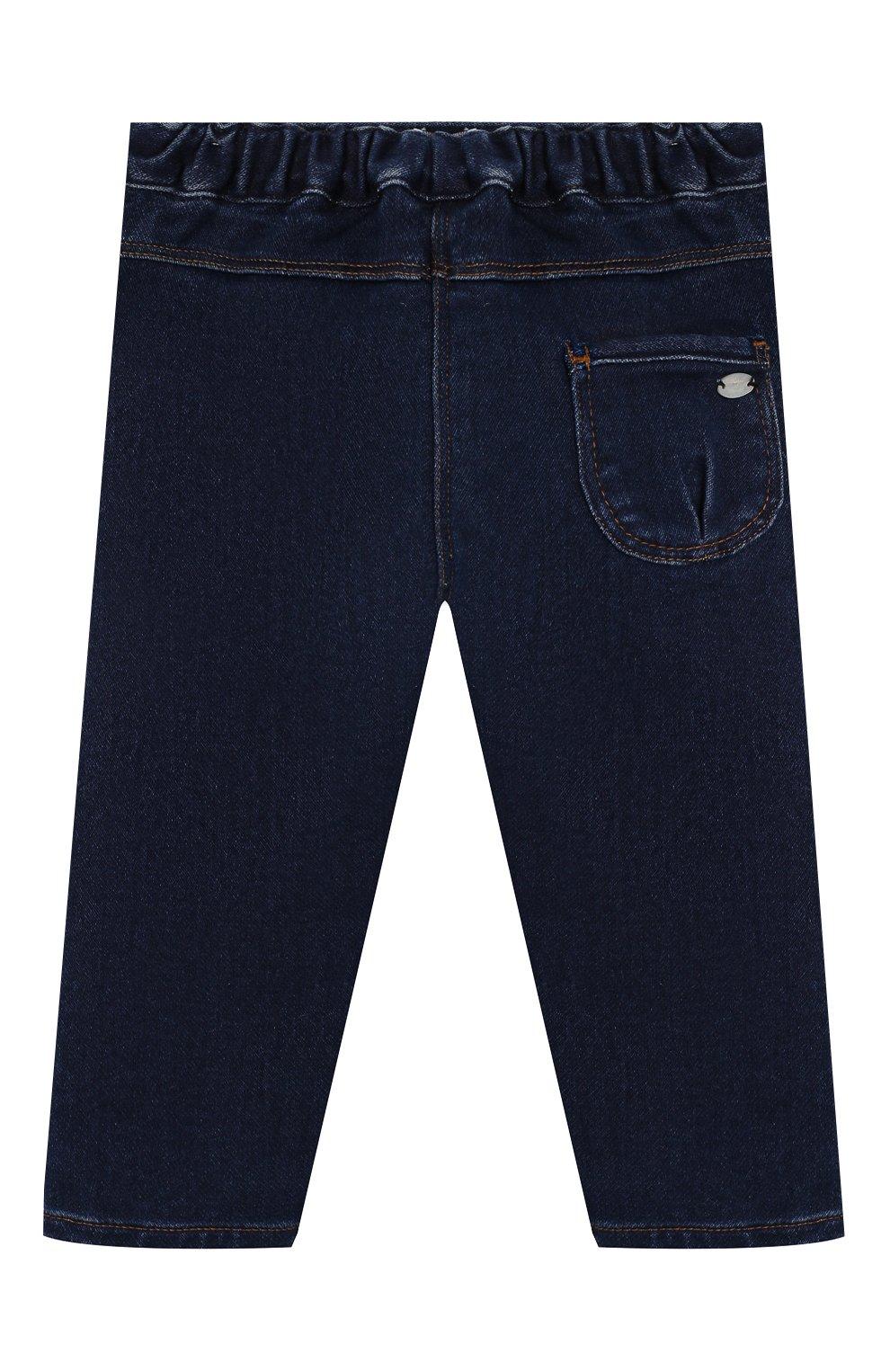 Детские джинсы TARTINE ET CHOCOLAT темно-синего цвета, арт. TP22041/1M-1A | Фото 2 (Материал внешний: Хлопок; Ростовка одежда: 12 мес | 80 см, 6 мес | 68 см, 9 мес | 74 см)
