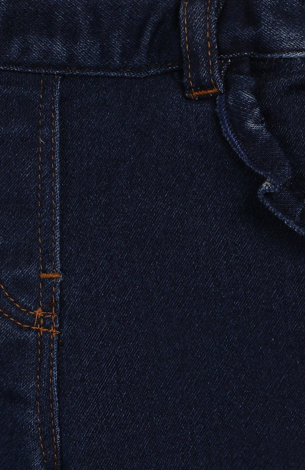 Детские джинсы TARTINE ET CHOCOLAT темно-синего цвета, арт. TP22041/1M-1A | Фото 3 (Материал внешний: Хлопок; Ростовка одежда: 12 мес | 80 см, 6 мес | 68 см, 9 мес | 74 см)
