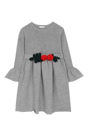 Детское шерстяное платье IL GUFO серого цвета, арт. A19VT074EM220/2A-4A | Фото 1