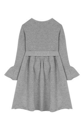 Детское шерстяное платье IL GUFO серого цвета, арт. A19VT074EM220/2A-4A | Фото 2