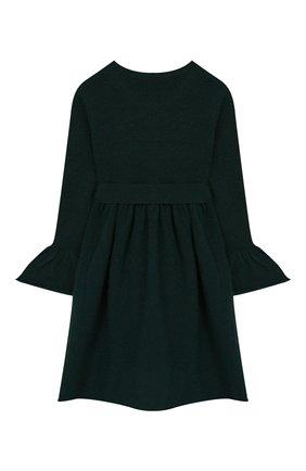 Детское шерстяное платье IL GUFO темно-зеленого цвета, арт. A19VT074EM220/2A-4A | Фото 2
