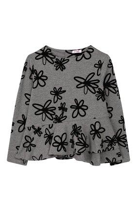 Детский хлопковый пуловер IL GUFO серого цвета, арт. A19MF174M4016/5A-8A | Фото 1