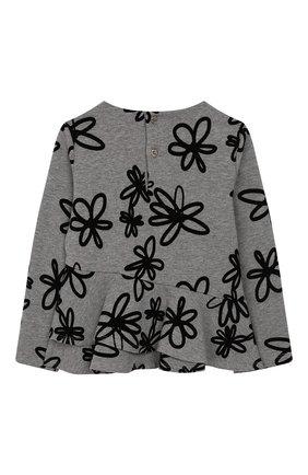 Детский хлопковый пуловер IL GUFO серого цвета, арт. A19MF174M4016/5A-8A | Фото 2