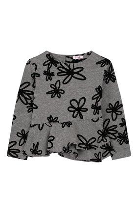 Детский хлопковый пуловер IL GUFO серого цвета, арт. A19MF174M4016/2A-4A | Фото 1