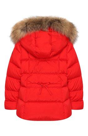 Детского пуховая куртка с капюшоном IL GUFO красного цвета, арт. A19GM308N0031/5A-8A | Фото 2