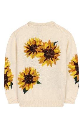 Детский шерстяной пуловер DOLCE & GABBANA белого цвета, арт. L5KW61/JAVQT/2-6 | Фото 2