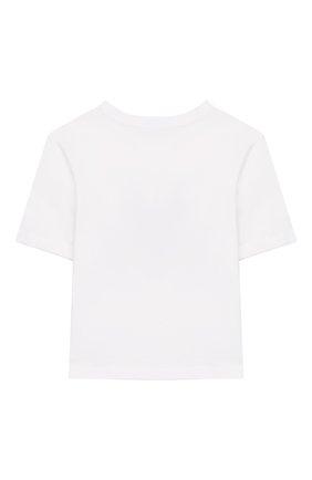 Детская хлопковая футболка DOLCE & GABBANA белого цвета, арт. L5JTAZ/G7TBP/8-14 | Фото 2