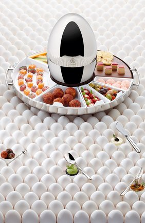 Набор приборов для закусок mood party на 6 персон CHRISTOFLE серебряного цвета, арт. 00065599 | Фото 2