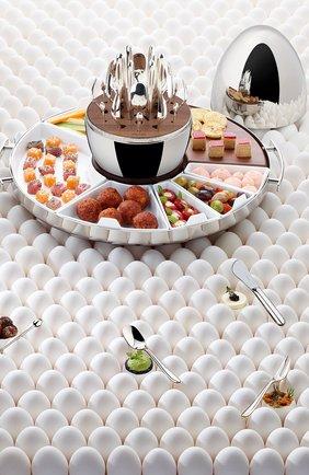 Мужского набор приборов для закусок mood party на 6 персон CHRISTOFLE серебряного цвета, арт. 00065599 | Фото 3
