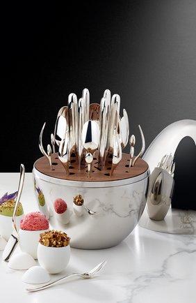 Мужского набор приборов для закусок mood party на 6 персон CHRISTOFLE серебряного цвета, арт. 00065599 | Фото 11