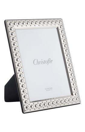 Рамка для фотографии perles CHRISTOFLE серебряного цвета, арт. 05256016 | Фото 1 (Ограничения доставки: fragile-2)