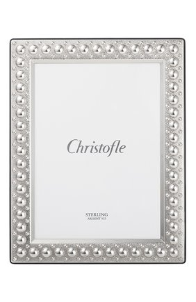 Рамка для фотографии perles CHRISTOFLE серебряного цвета, арт. 05256016 | Фото 2 (Ограничения доставки: fragile-2)