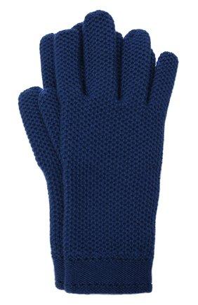 Женские кашемировые перчатки LORO PIANA синего цвета, арт. FAA1252 | Фото 1