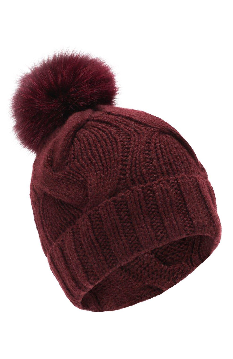 Женская кашемировая шапка courchevel LORO PIANA фиолетового цвета, арт. FAI3621 | Фото 1