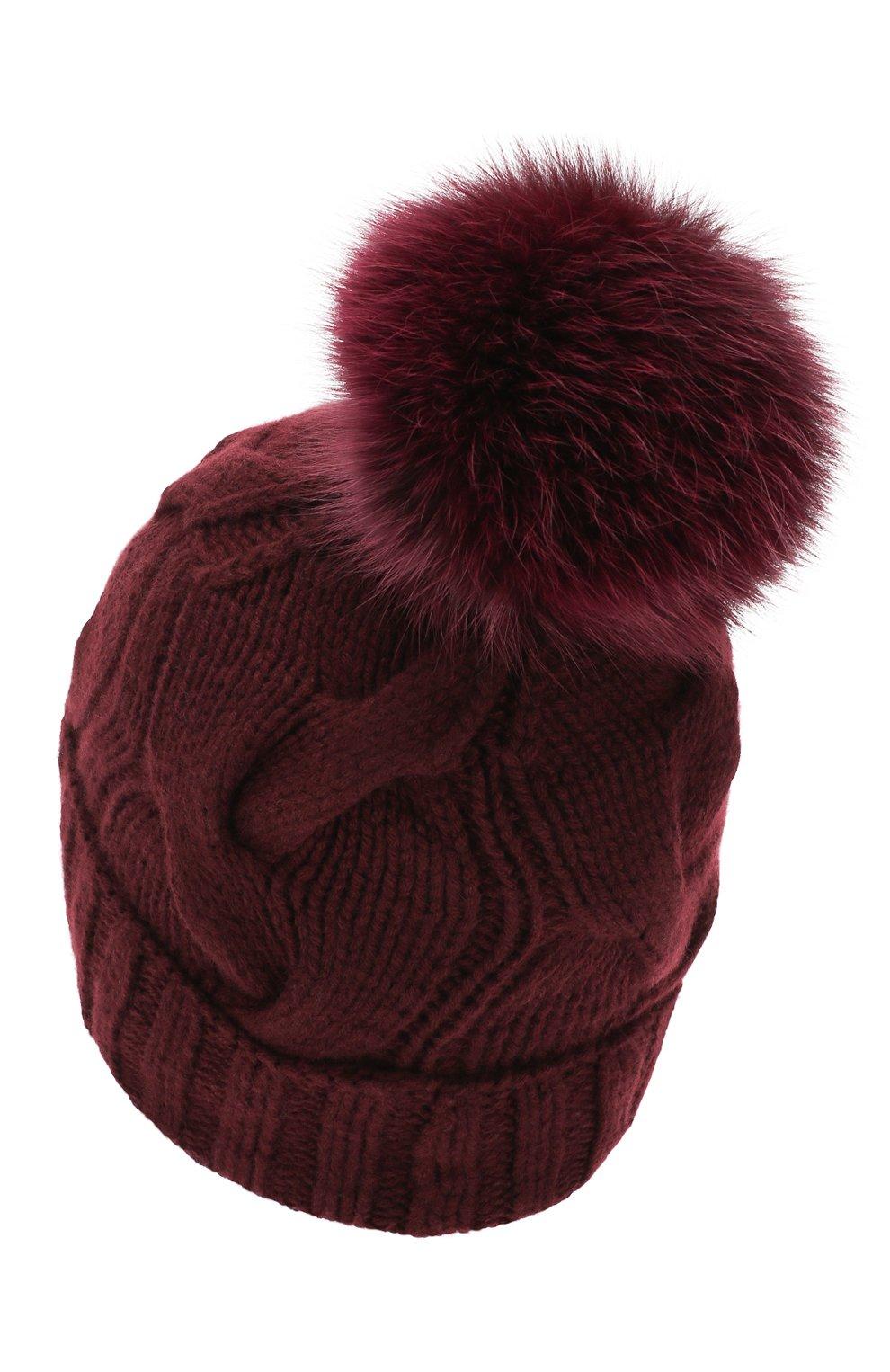 Женская кашемировая шапка courchevel LORO PIANA фиолетового цвета, арт. FAI3621 | Фото 2