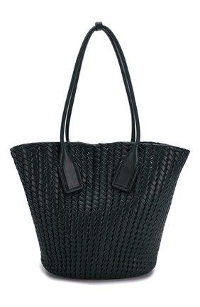 Женская сумка-тоут basket BOTTEGA VENETA зеленого цвета, арт. 578342/VMBA1 | Фото 1