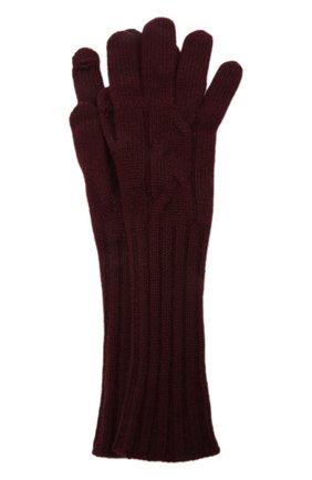 Женские кашемировые перчатки courchevel LORO PIANA бордового цвета, арт. FAI8570 | Фото 1