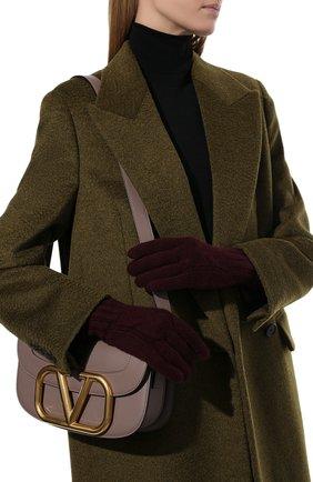 Женские кашемировые перчатки courchevel LORO PIANA бордового цвета, арт. FAI8570 | Фото 2