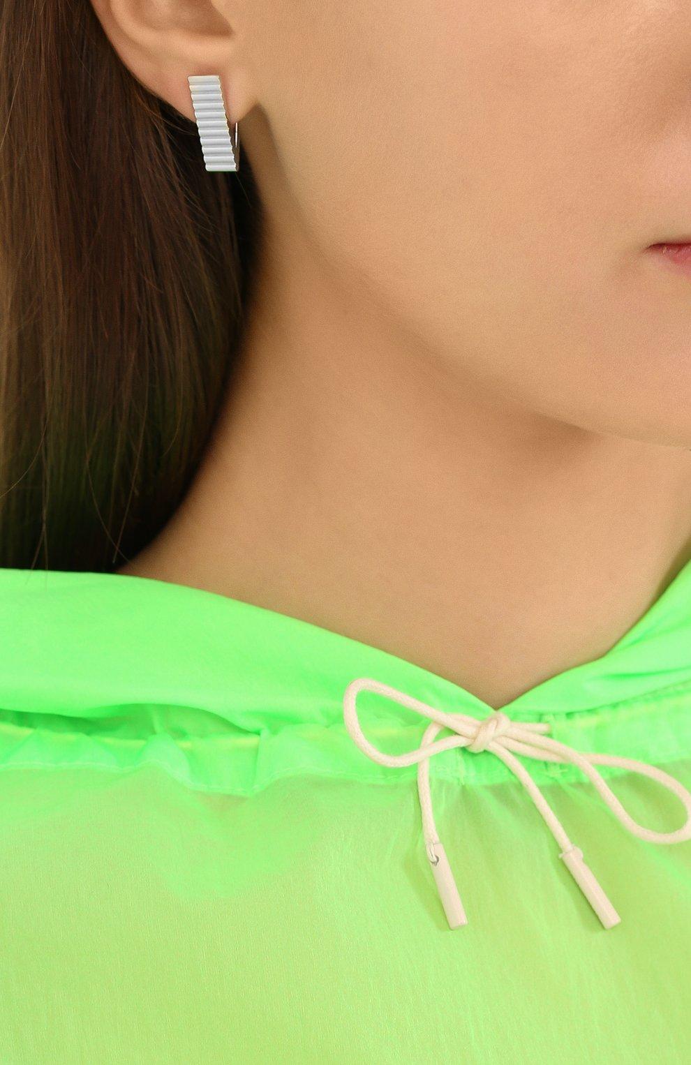 Женские серьги стеклярус AVGVST BY NATALIA BRYANTSEVA серебряного цвета, арт. 1005503-01 | Фото 2