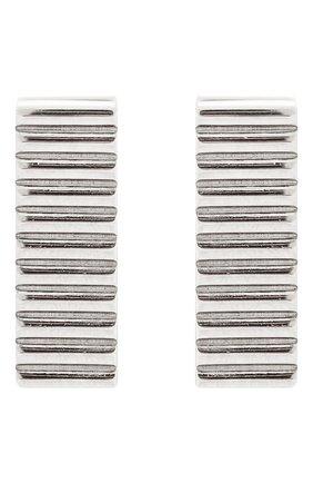 Женские серьги стеклярус AVGVST BY NATALIA BRYANTSEVA серебряного цвета, арт. 1005503-01 | Фото 3