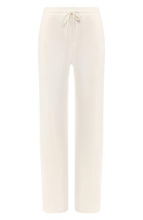 Женские кашемировые брюки ADDICTED белого цвета, арт. MK724   Фото 1
