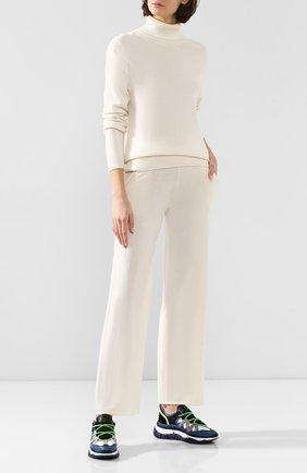 Женские кашемировые брюки ADDICTED белого цвета, арт. MK724   Фото 2