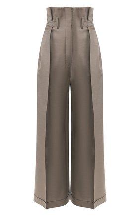 Женские брюки из смеси шерсти и вискозы ACNE STUDIOS бежевого цвета, арт. AK0171 | Фото 1