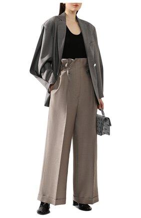 Женские брюки из смеси шерсти и вискозы ACNE STUDIOS бежевого цвета, арт. AK0171 | Фото 2