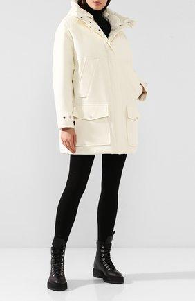 Женская шерстяная куртка tundra WOOLRICH белого цвета, арт. WWCPS2820/UT1741 | Фото 2