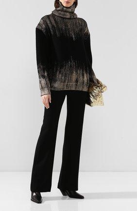 Женские брюки из смеси шерсти и хлопка ANN DEMEULEMEESTER черного цвета, арт. 1902-1434-167-099   Фото 2