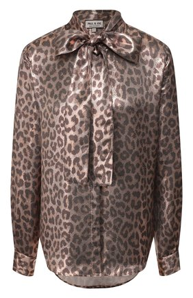 Женская блузка с принтом PAUL&JOE леопардового цвета, арт. KLEGUEPARD | Фото 1