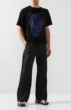 Мужская хлопковая футболка RAF SIMONS черного цвета, арт. 192-122-19001 | Фото 2