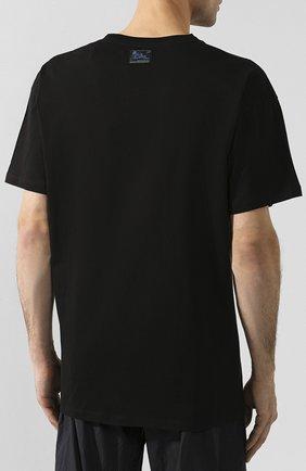 Мужская хлопковая футболка RAF SIMONS черного цвета, арт. 192-122-19001 | Фото 4