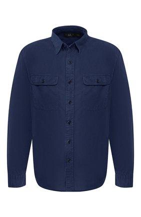 Мужская хлопковая рубашка RRL темно-синего цвета, арт. 782658471 | Фото 1