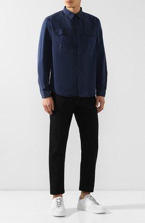 Мужская хлопковая рубашка RRL темно-синего цвета, арт. 782658471 | Фото 2