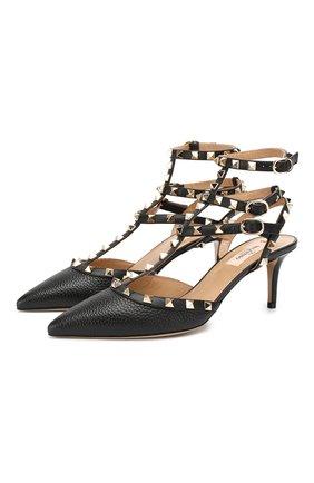 Женская кожаные туфли valentino garavani rockstud VALENTINO черного цвета, арт. SW2S0375/VCE | Фото 1