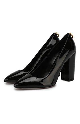 Кожаные туфли Valentino Garavani Ringstud | Фото №1