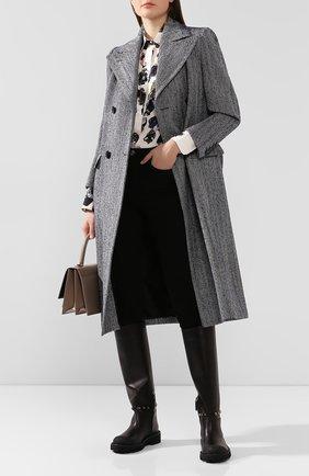 Женские кожаные сапоги valentino garavani rockstud VALENTINO черного цвета, арт. SW0S0S20/HWM   Фото 2