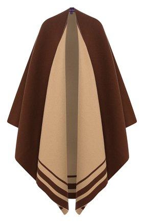 Женская пончо из смеси шерсти и кашемира RALPH LAUREN коричневого цвета, арт. 290765680 | Фото 1