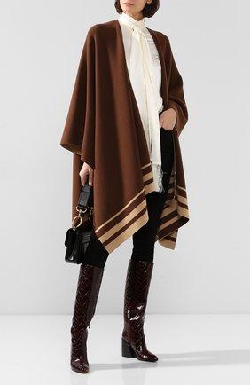Женская пончо из смеси шерсти и кашемира RALPH LAUREN коричневого цвета, арт. 290765680 | Фото 2