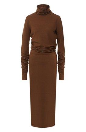 Женское платье LEMAIRE коричневого цвета, арт. W 194 JE269 LJ042 | Фото 1