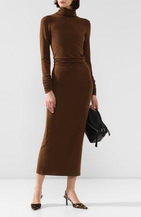 Женское платье LEMAIRE коричневого цвета, арт. W 194 JE269 LJ042 | Фото 2