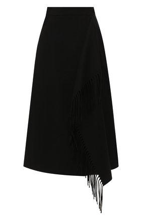 Женская шерстяная юбка ESCADA черного цвета, арт. 5031182 | Фото 1