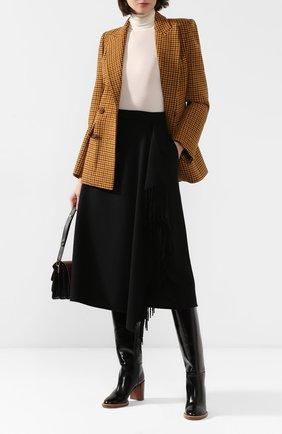Женская шерстяная юбка ESCADA черного цвета, арт. 5031182 | Фото 2