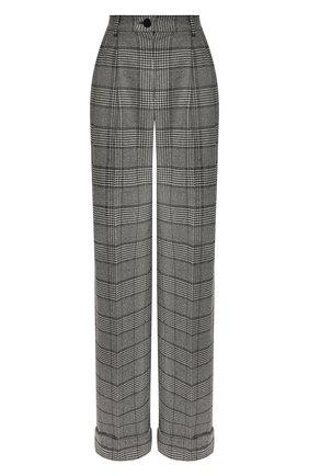 Женские брюки DOLCE & GABBANA серого цвета, арт. FTBMPT/FQRBP | Фото 1