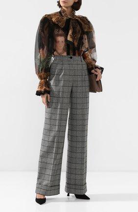 Женские брюки DOLCE & GABBANA серого цвета, арт. FTBMPT/FQRBP | Фото 2
