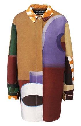 Рубашка из смеси хлопка и льна | Фото №1
