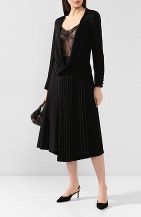 Женская шелковая блузка ALICE + OLIVIA черного цвета, арт. CC908015025 | Фото 2